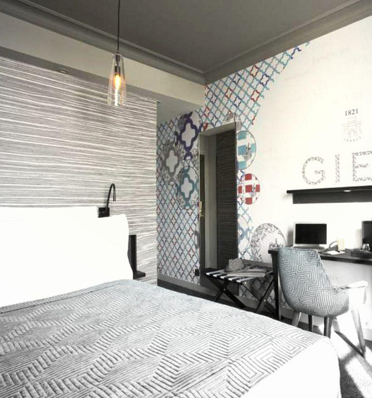 A l'hôtel Empreinte d'Orléans les corniches sont lisses pour que les chambres restent modernes