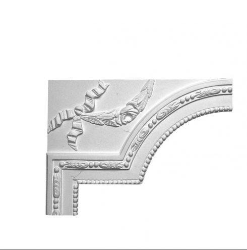 Angle de moulure ornementée de style empire en platre made in france