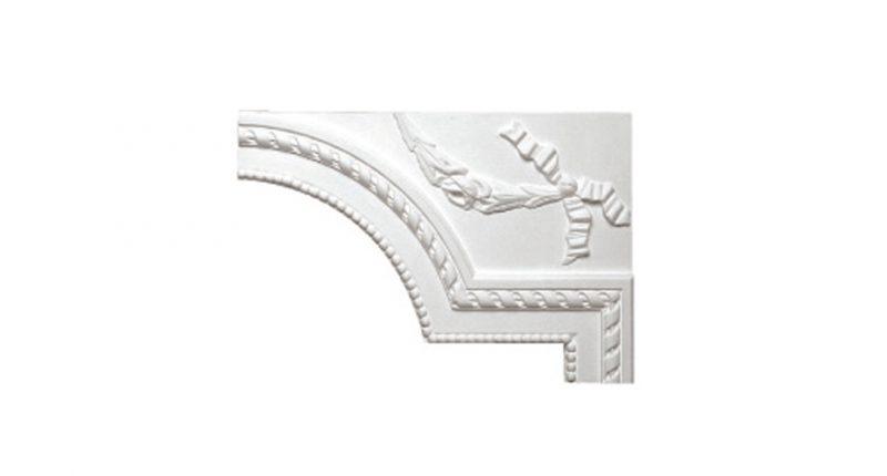 L'angle de moulure 1105HD se colle sur le mur ou plafond