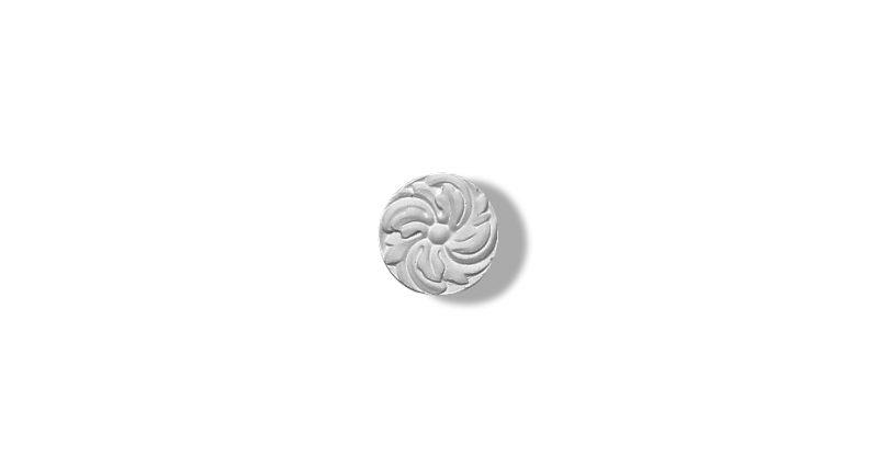 1403 rosette ronde ornementee a coller au plafond ou au mur gamme Staff Decor