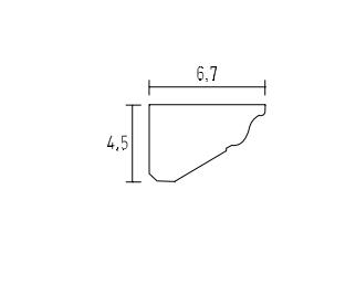 schema moulure lisse 9304 a coller sur le mur