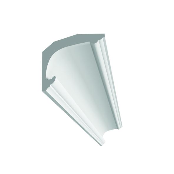 d103 corniche plafond a eclairage indirect en platre associee a un eclairage led