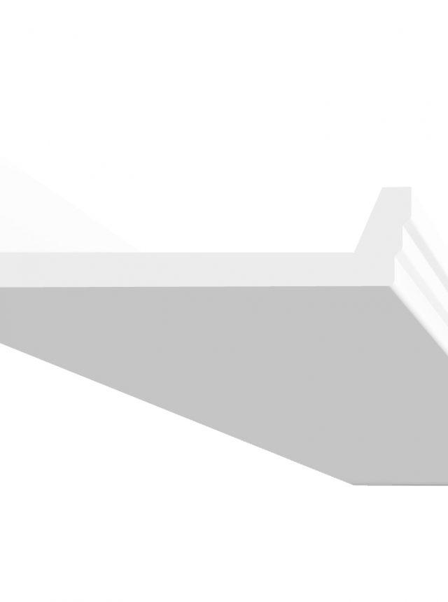corniche a eclairage indirect en platre reference D104 a coller sur le plafond