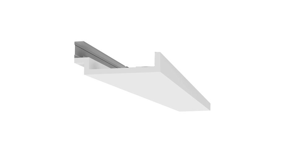 corniche-corniche plafond-d105- éclairage indirect en staff-corniche plafond