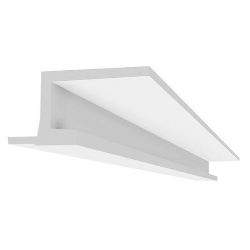 corniche eclairage indirect ou profil lumineux fixation au plafond avec un ruban led