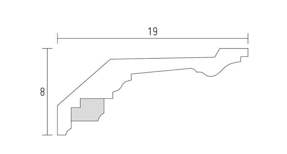 D515-schéma-corniche-ornementée- corniche plafond-corniche en staff
