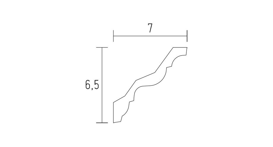 schéma corniche classique-d520-corniche plafond-corniche plâtre