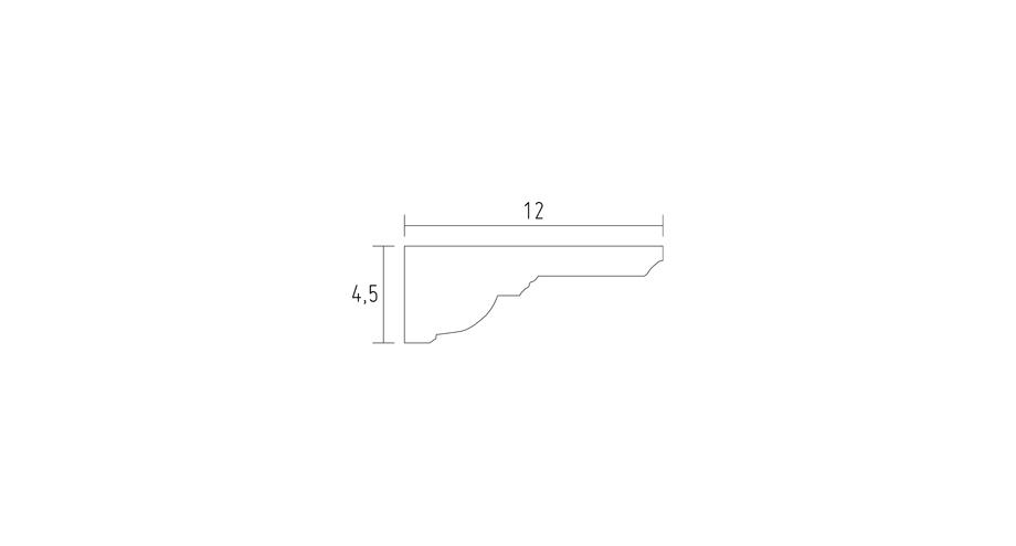 schéma corniche classique en staff corniche plafond corniche plâtre