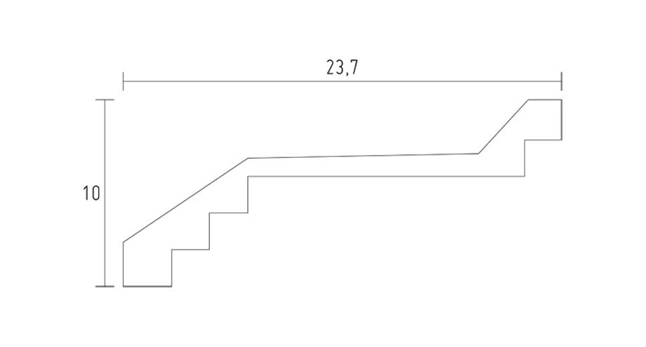 schéma-d567-corniche contemporaine -corniche plâtre-corniche plafond