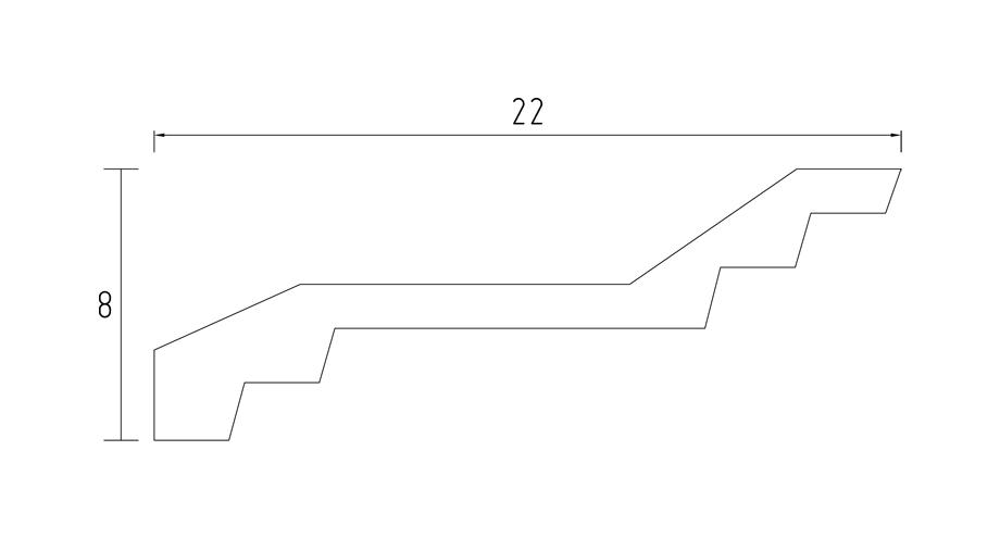 Corniche contemporaine d577-schéma-corniche au plafond- corniche plâtre