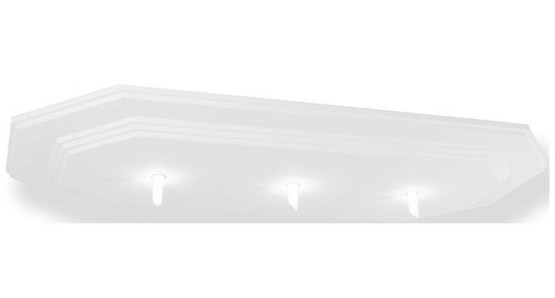 plafonnier octogonal décaissé- PLD567-suspension plafond-