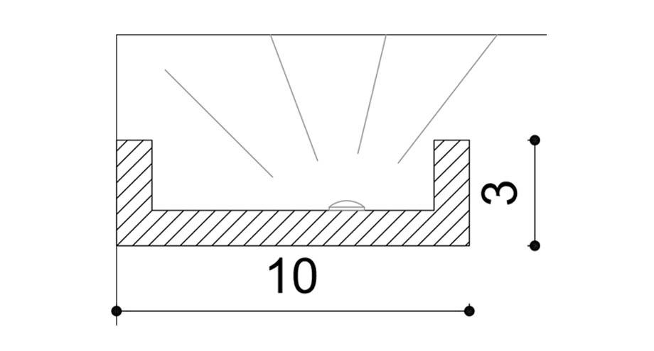 SDPA2 corniche eclairage indirect pose en applique au plafond