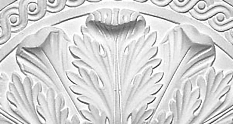 detail m057 rosace staffdecor à fixer au plafond