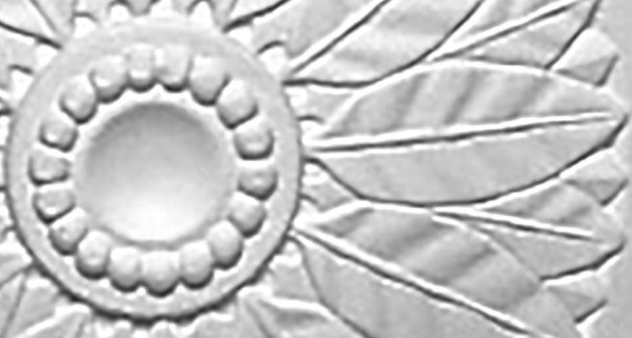 detail M058 rosace en platre a coller au plafond