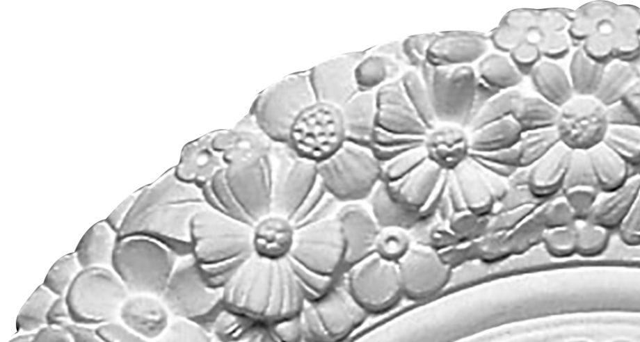 détail M061 rosace en staff pouvant se coller au plafond