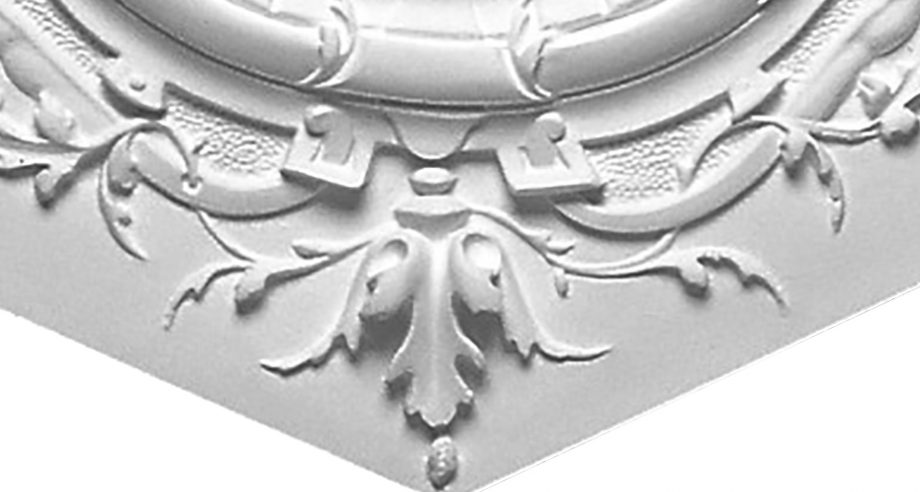 detail m067 rosace gamme staffdecor en platre a coller au plafond ou a encastrer