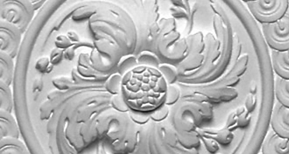 detail m070 rosace ronde ornementee a fixer au plafond