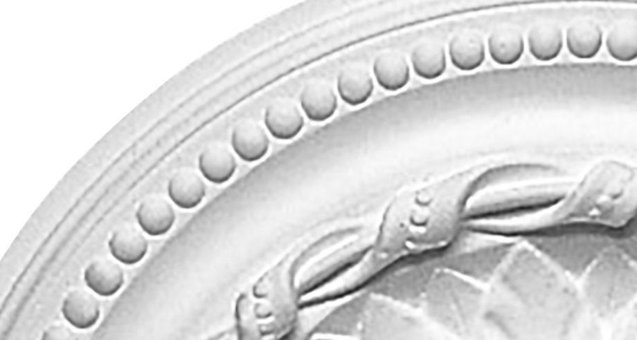 detail m100 rosace de plafond en staff gamme Staff Decor a coller