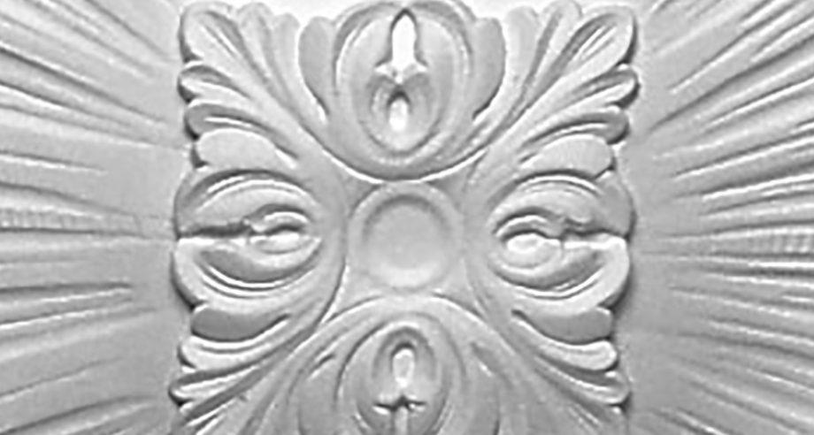 detail m203 rosace plafond de la gamme Staff Decor qui se colle au plafond en platre