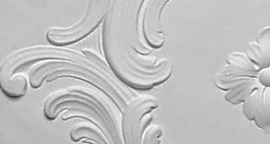 detail 1 m210 rosace de plafond en platre se fixant par collage au plafond