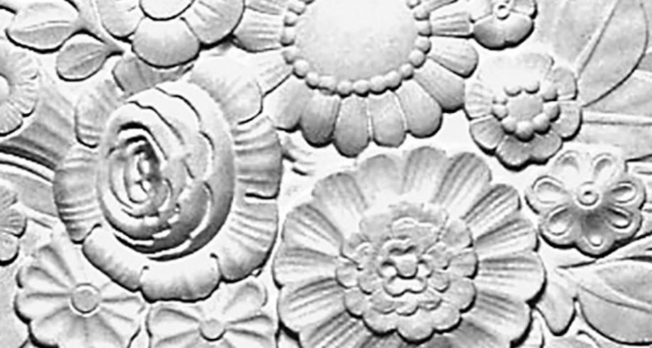detail m296 rosace florale en staff collection Staff Decor a coller sur le plafond