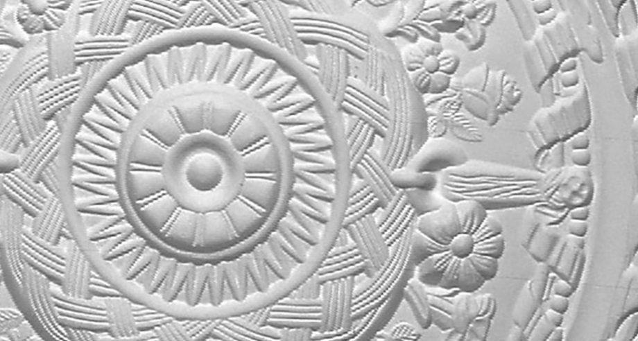 detail m297 rosace ornementee de plafond gamme Staff Decor en platre