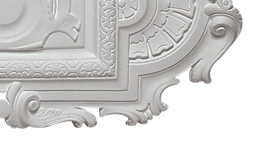 detail m406 rosace en platre se fixant sur le plafond gamme Staff Decor