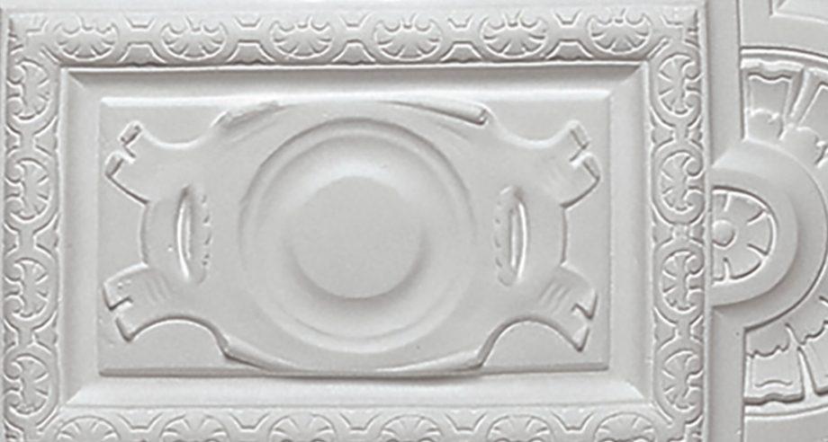 detail 2 m406 rosace en platre se fixant sur le plafond gamme Staff Decor