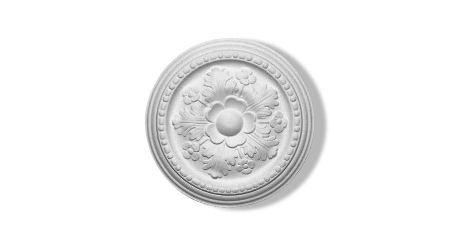 rosace circulaire en staff à fixer au plafond