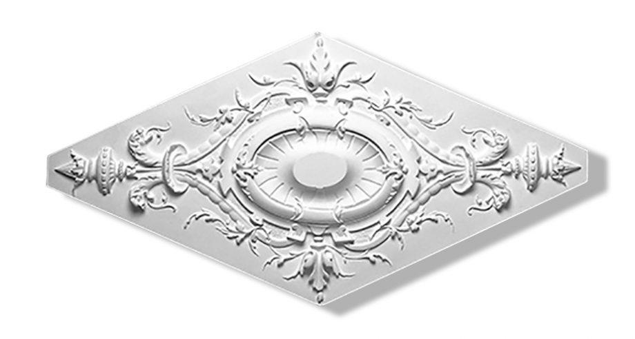 m067 rosace gamme staffdecor en platre a fixer au plafond par collage ou encastrement