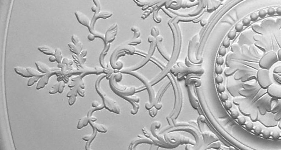 detail m401 rosace en platre a coller ou a incruster dans le plafond