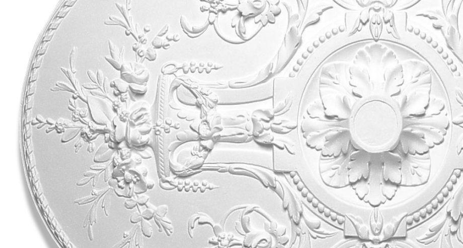 detail m407 rosace en platre gamme Staff Decor a coller ou a encastrer au plafond