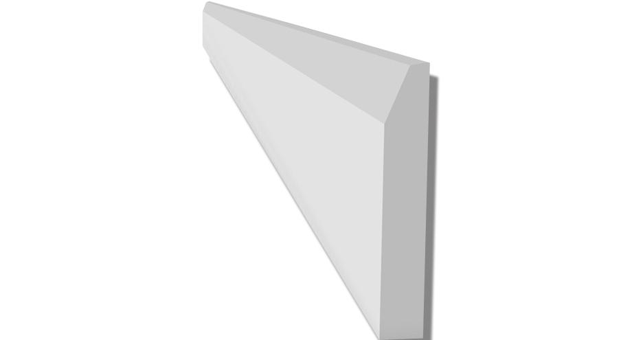 PLIN08M plinthe en platre moderne collee sur tout type de support