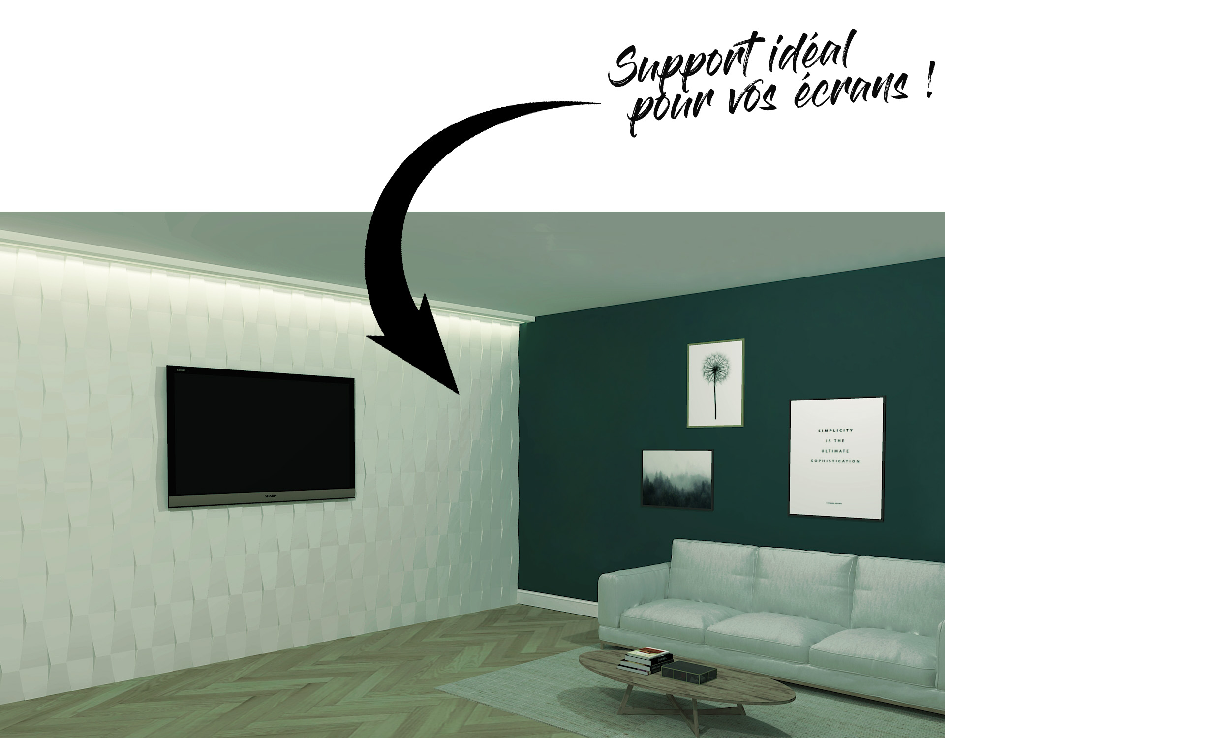 Panneau Mural Derriere Tv l'habillage mural ? mais pourquoi ? - staff decor
