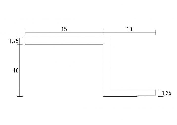 schéma profil en staff- d118-corniche plafond-corniche en staff
