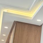 corniches lumineuses d105A d105B en staff a coller sur le plafond