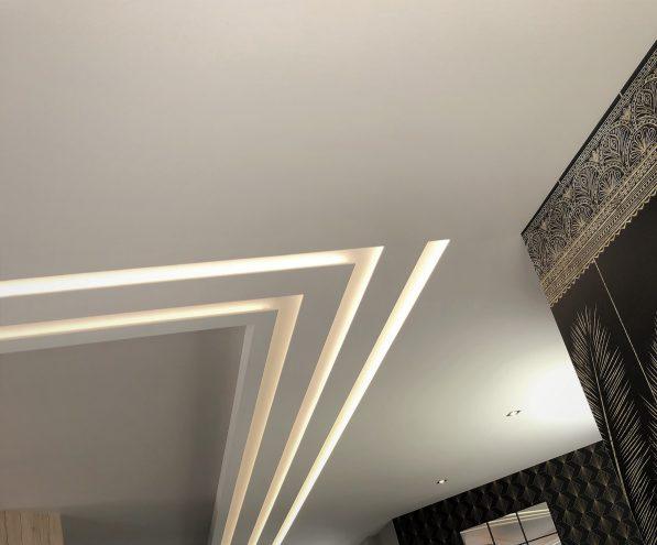 eclairage indirect pour plafond realisé en staff