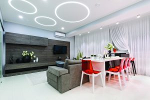 bandeau luminbeux de forme ronde pour plafond en led