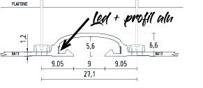 schema du bandeau lumineux led BL180