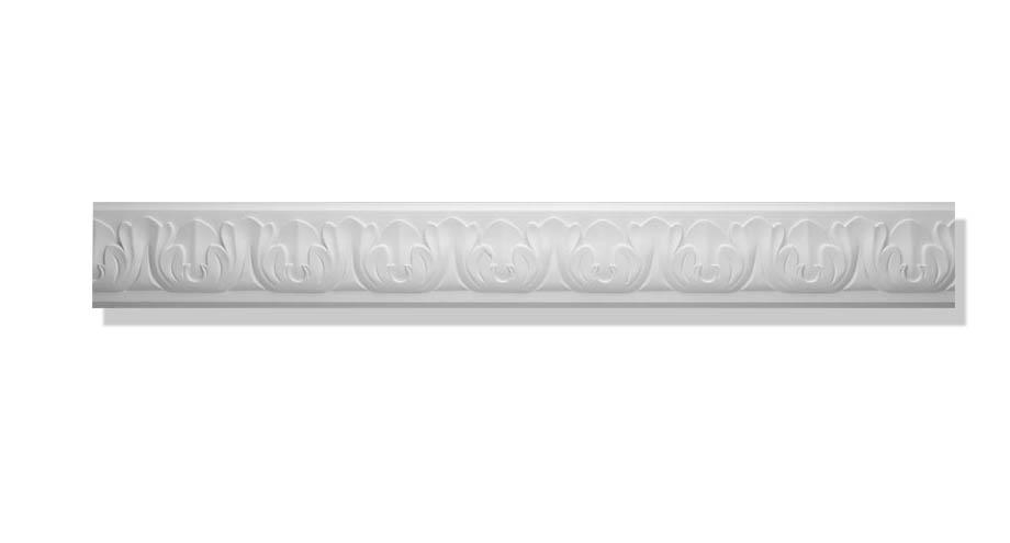 La moulure decorative 1320 en staff peut se coller au plafond ou au mur.