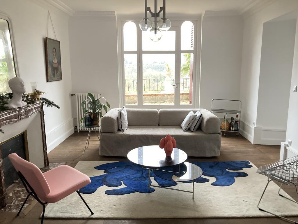 le petit salon de la somptueuse maison d hotes dollinger à Thouars