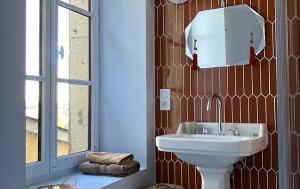 la de bain art deco dans les chambres de'hotes de thouars