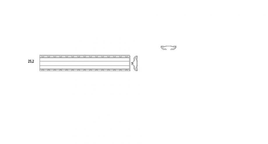 Element droit double gorge X.L150 gamme variance