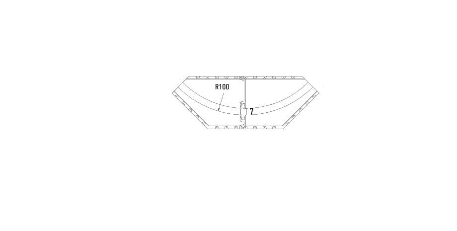 Element arrondi rayon de 100 cm mur et plafond gamme variance
