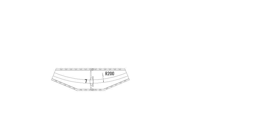 Element arrondi rayon de 200 cm mur et plafond gamme variance