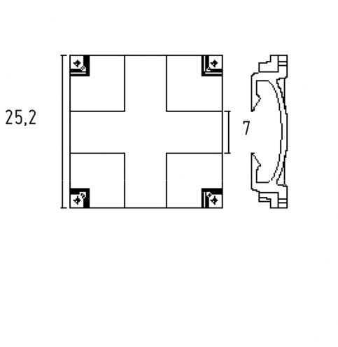 Element de raccord X.C090 permettant la jonction avecd un element droit